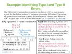 example identifying type i and type ii errors
