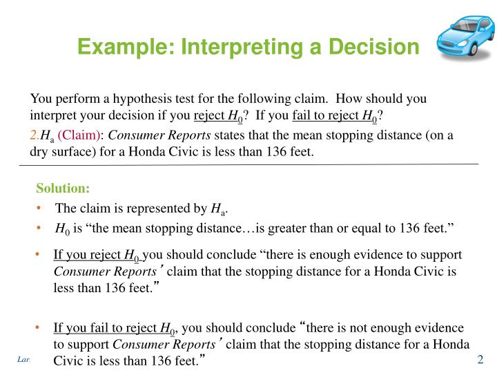 Example: Interpreting