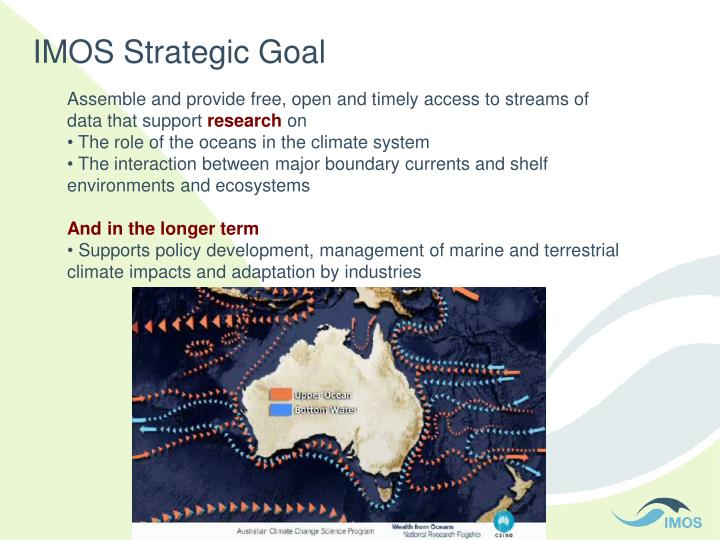 IMOS Strategic Goal