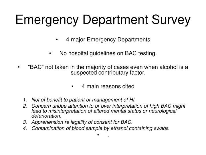 Emergency Department Survey