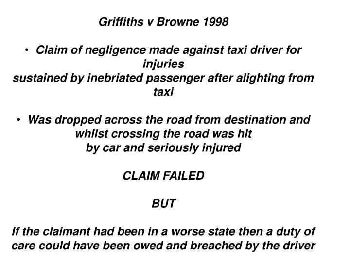 Griffiths v Browne 1998
