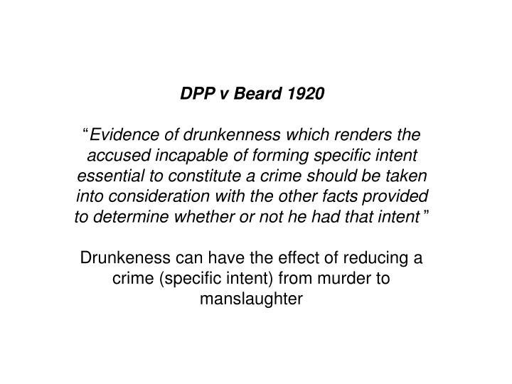 DPP v Beard 1920