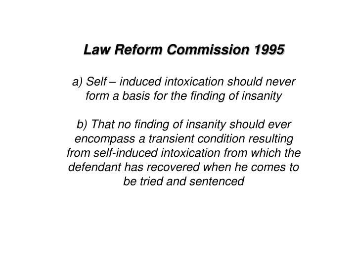 Law Reform Commission 1995