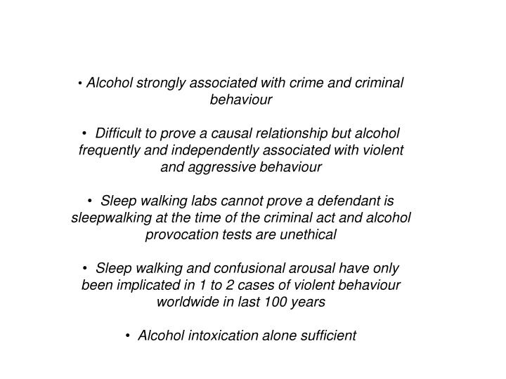 Alcohol strongly associated with crime and criminal behaviour