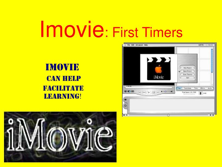 Imovie powerpoint