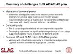 summary of challenges to slac atlas plan
