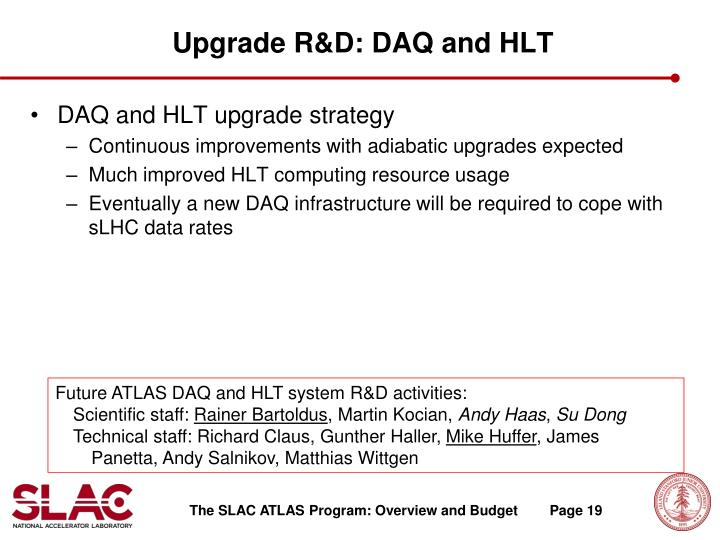 Upgrade R&D: DAQ and HLT