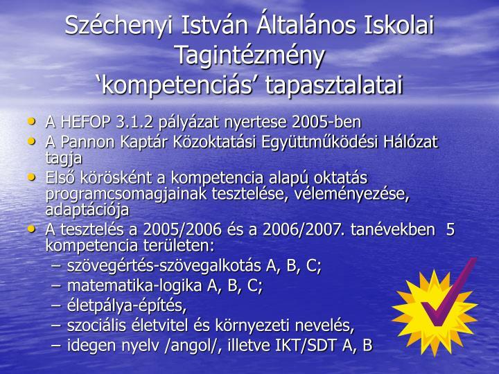 Széchenyi István Általános Iskolai Tagintézmény