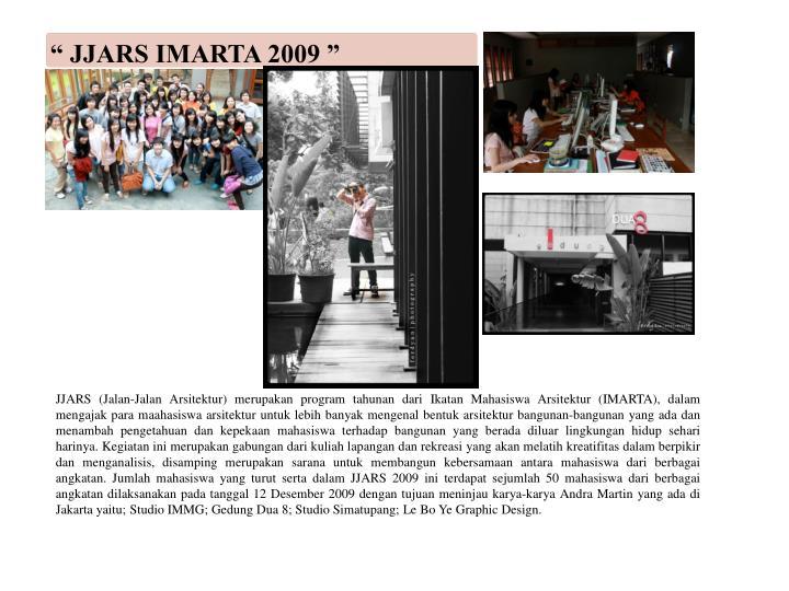 """"""" JJARS IMARTA 2009 """""""