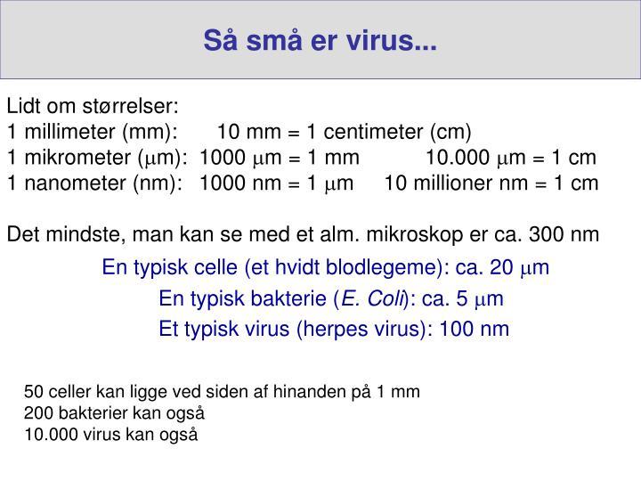Så små er virus...