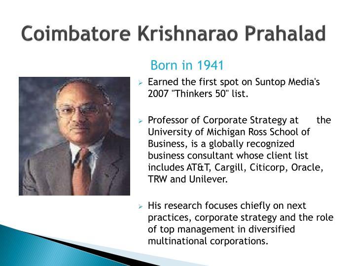 Coimbatore Krishnarao Prahalad