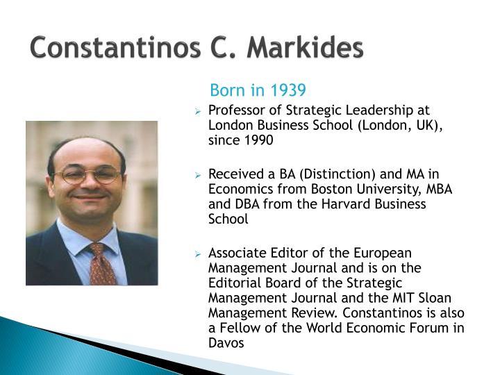 Constantinos C. Markides