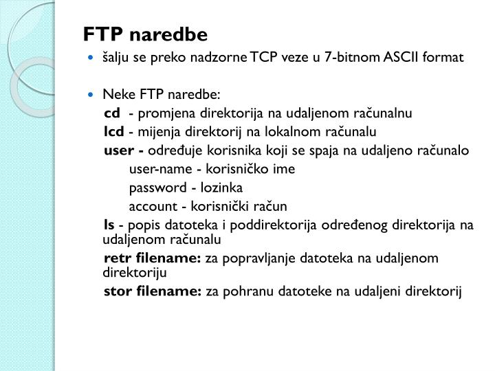 FTP naredbe