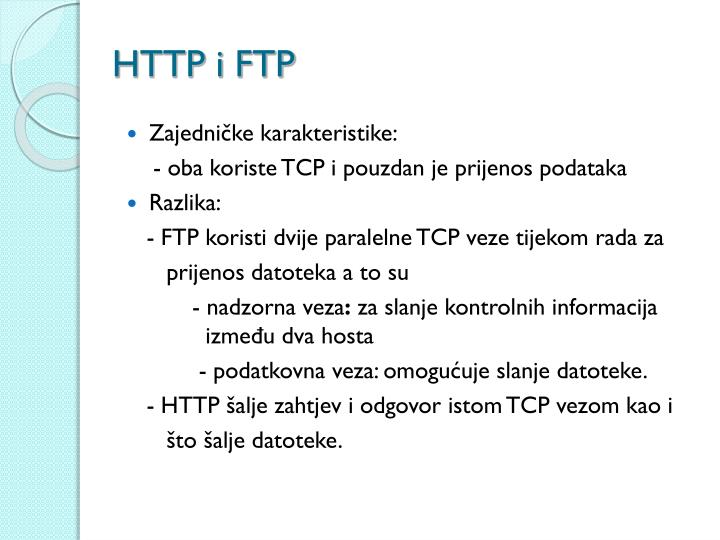 HTTP i FTP