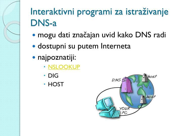 Interaktivni programi za istraživanje DNS-a