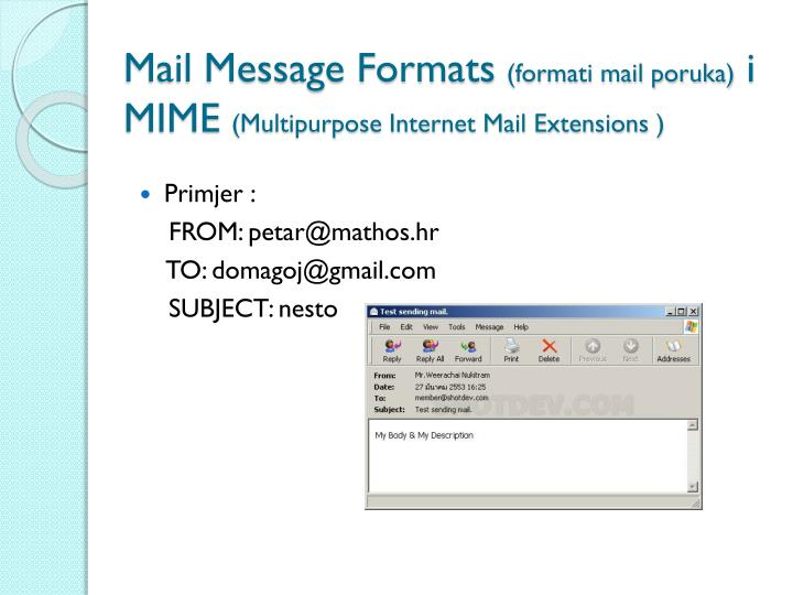 Mail Message Formats