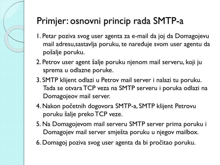 Primjer: osnovni princip rada SMTP-a