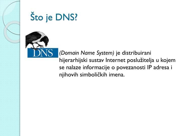Što je DNS?