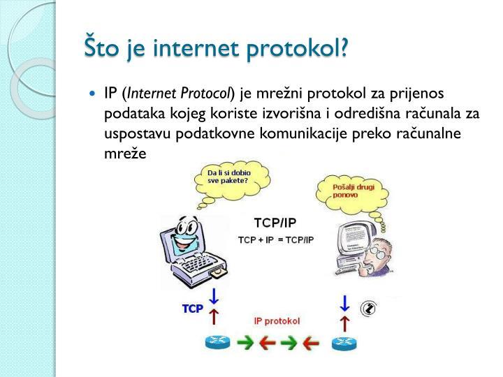 Što je internet protokol?