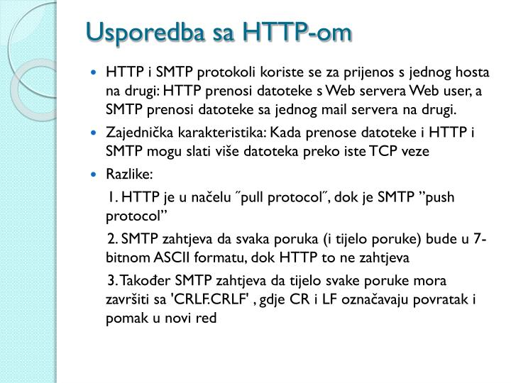 Usporedba sa HTTP-om