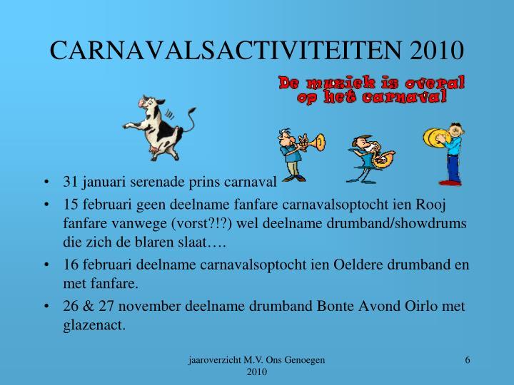CARNAVALSACTIVITEITEN 2010