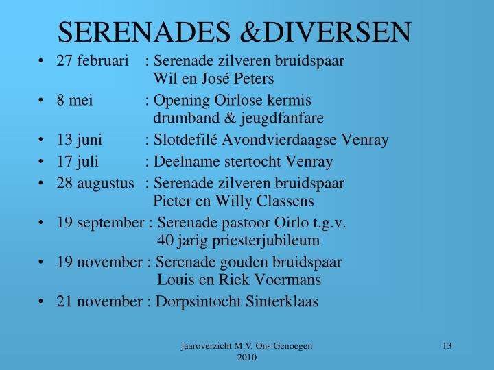SERENADES &DIVERSEN