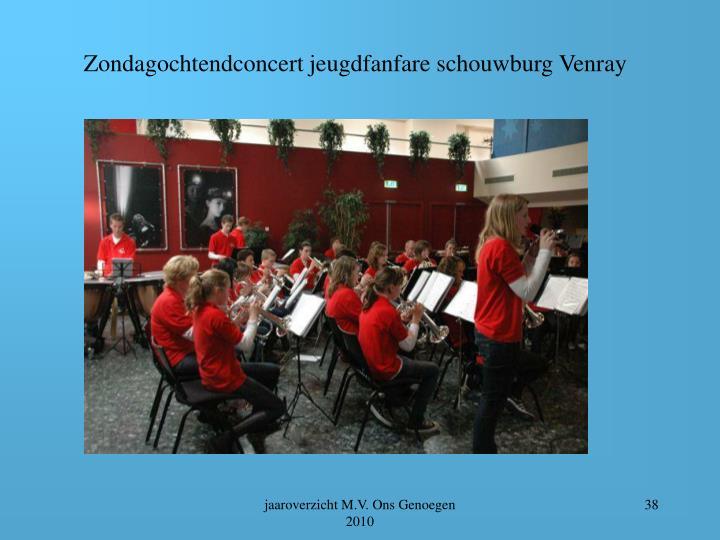 Zondagochtendconcert jeugdfanfare schouwburg Venray