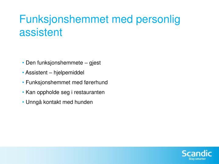 Funksjonshemmet med personlig assistent