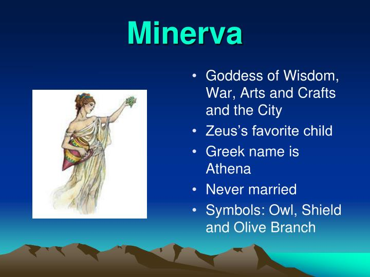 Goddess of Wisdom, War, Arts and Crafts and the City
