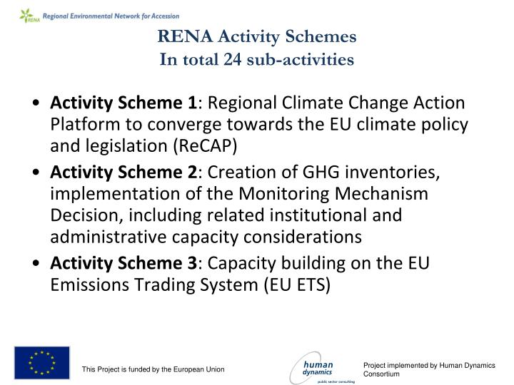 RENA Activity Schemes
