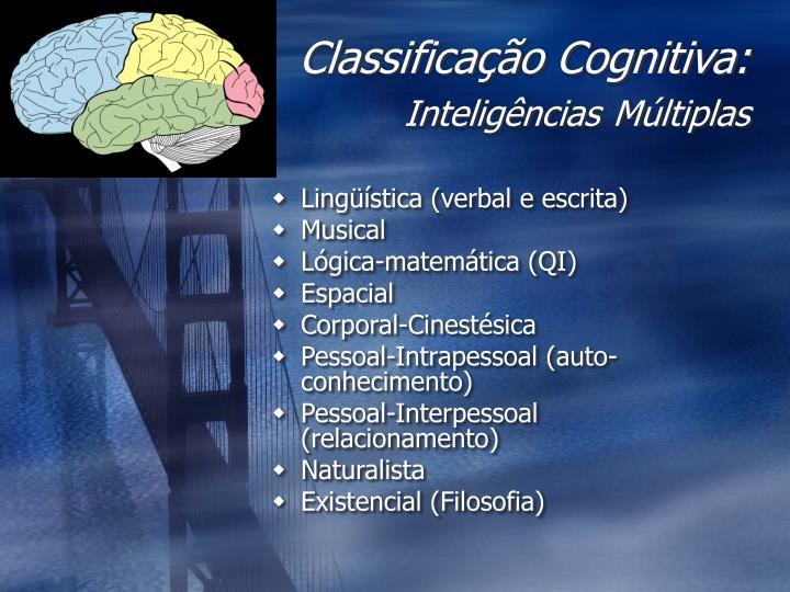 Classificação Cognitiva:
