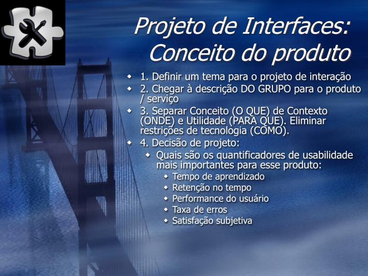 Projeto de Interfaces: