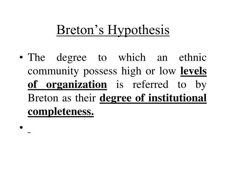 Breton's Hypothesis