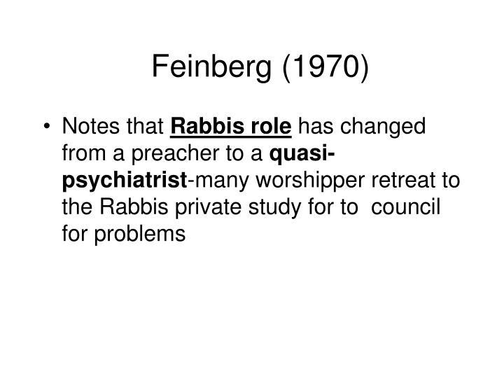 Feinberg (1970)