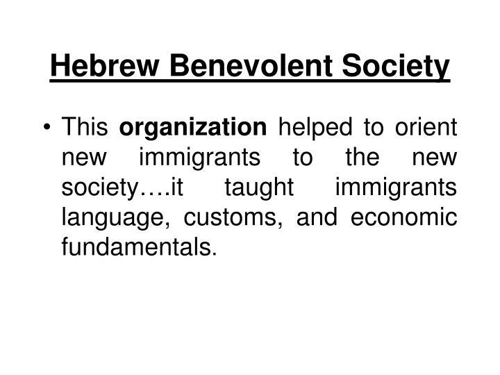Hebrew Benevolent Society