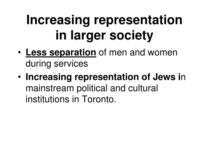 Increasing representation