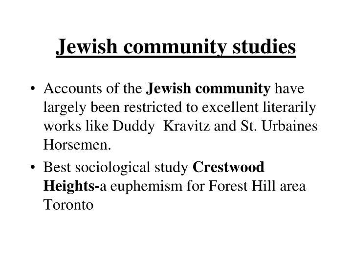 Jewish community studies