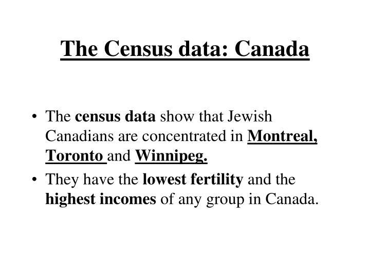 The Census data: Canada