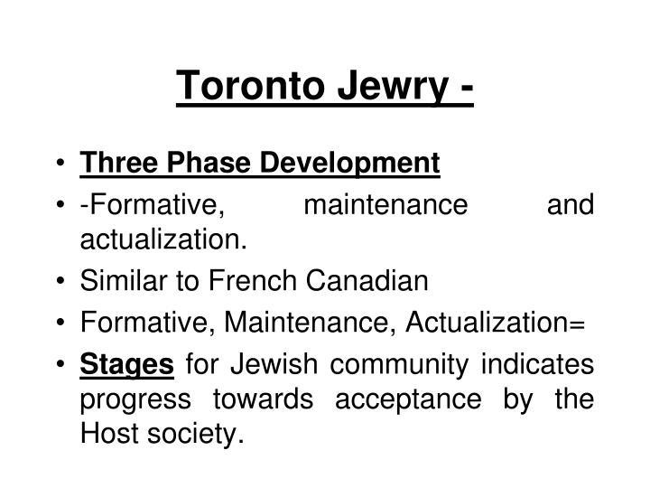 Toronto Jewry -