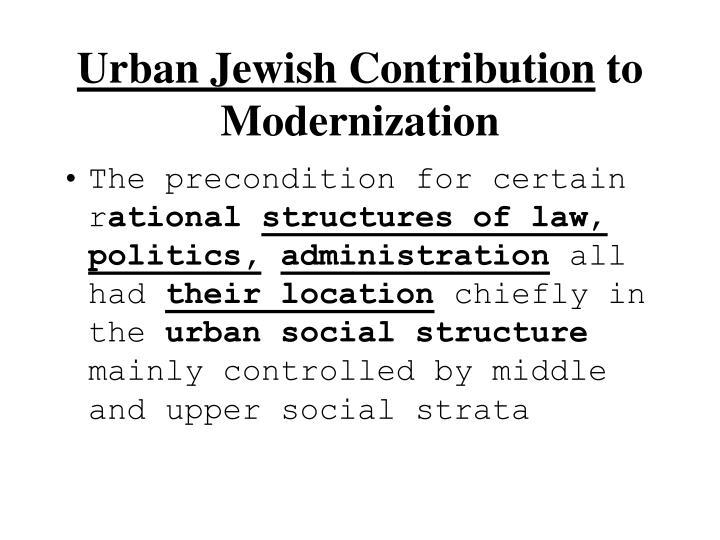 Urban Jewish Contribution