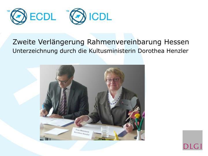 Zweite Verlängerung Rahmenvereinbarung Hessen