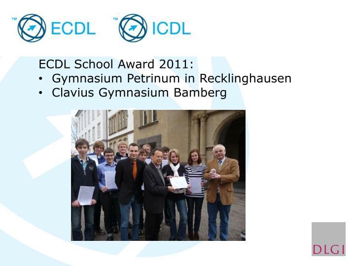 ECDL School Award 2011: