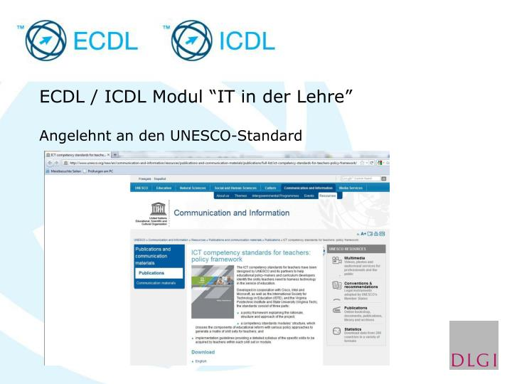 "ECDL / ICDL Modul ""IT in der Lehre"""
