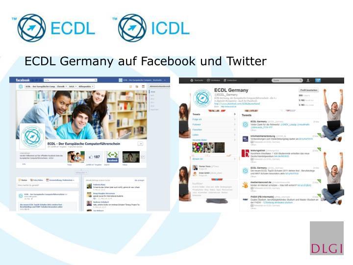 ECDL Germany auf Facebook und Twitter