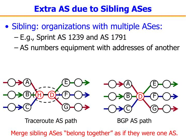 Extra AS due to Sibling ASes