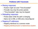 problems with traceroute