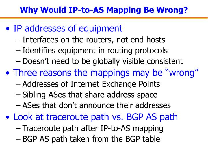 Why Would IP-to-AS Mapping Be Wrong?