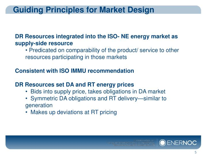 Guiding Principles for Market Design