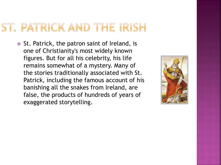 St. Patrick and the Irish
