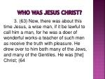 who was jesus christ